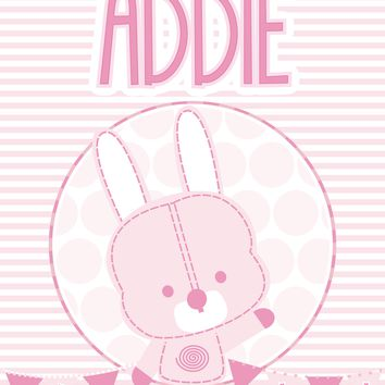 Baby Name Art Girl featuring Addie Bunny