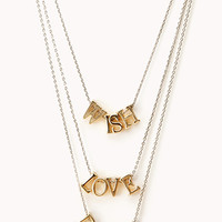 Wish, Love, Dream Necklace Set