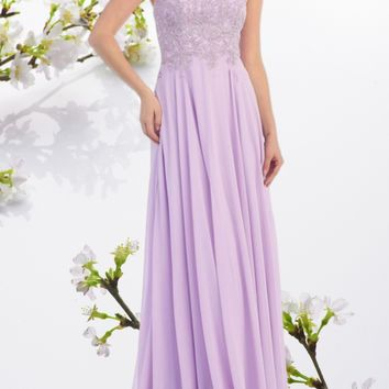 Strapless long chiffon bridesmaid dress MQ1277 - CLOSEOUT