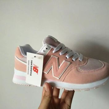 New Balance 574 Women Sport Casual N Words Sneakers Running Shoes