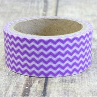 Wide Lilac Chevron (Thin): PaperVine - New Zealand based Scrapbook & Craft supplies