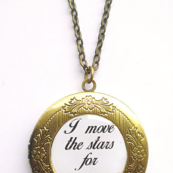 Labyrinth Inspired 'I move the Stars for No-one' Locket