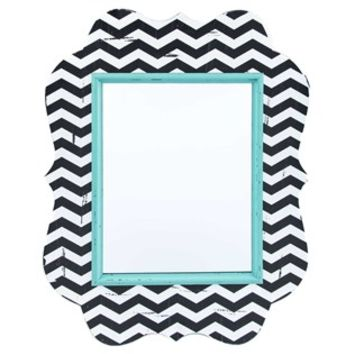 Ornate Black, White & Turquoise Chevron Mirror | Shop Hobby Lobby