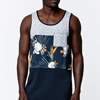 On The Byas Vernon Middle Panel Tank Top - Mens Tee - Blue