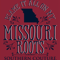 Southern Couture Blame it on my Missouri Roots State Pattern Girlie Bright T Shirt