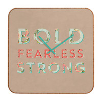 Allyson Johnson Bold Fearless And Strong Custom Clock