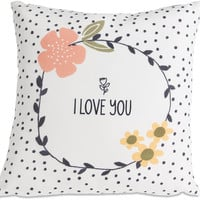 I Love You Micromink Throw Pillow