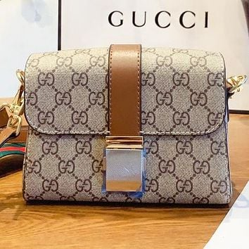 GUCCI  New fashion more print leather shopping and leisure shoulder bag crossbody bag