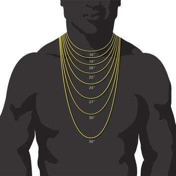 "Jewelry Kay style Men's CZ Egyptian Pharaoh Pendant 20"" / 24"" Miami Cuban Chain Necklace MCP 1119G"