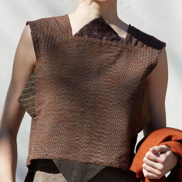Cosmic Wonder Kurume-Kasuri Top in Brown
