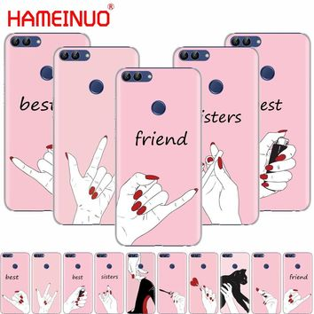 HAMEINUO best friend and best sisters cell phone Cover Case for huawei Honor 7C  Y5 Y625 Y635 Y6 Y7 Y9 2017 2018 Prime PRO