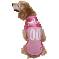 Pittsburgh Steelers Mesh Dog Jersey – Pink - http://www.shareasale.com/m-pr.cfm?merchantID=7124&userID=1042934&productID=555877215 / Pittsburgh Steelers