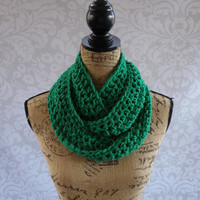 SALE Ready To Ship Spring Infinity Scarf St Patrick's Day Green Fall Winter Women's Accessory Infinity