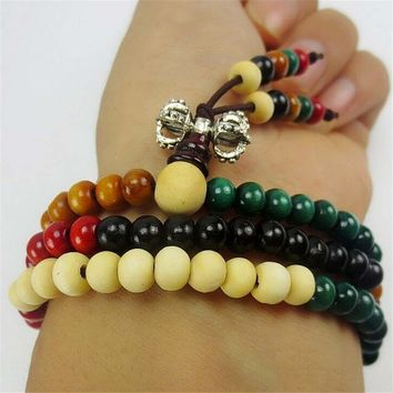 women men handmade ethnic minorities necklace black wood bead bracelet unique gift bracelet necklace 04 2