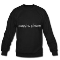 Muggle, Please- Unisex Harry Potter Crewneck Sweatshirt