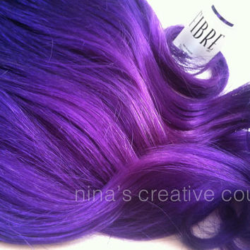 "Ombre Hair Extensions, Festival Hair, Purple Rain Ombre, Purple Hair, Bohemian Hair,(7) Piece, 20"", Katy Perry Inspired"