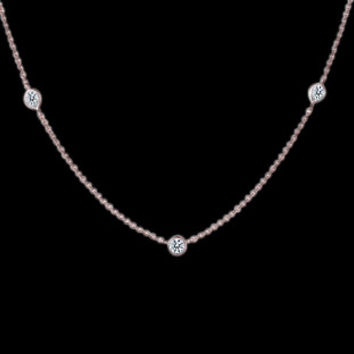 Yard diamonds 4 carats necklace pendant rose gold yards of diamonds by 32�