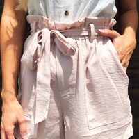 Come With Me Shorts: Blushed Nude