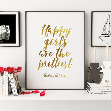 PRINTABLE Art,Audrey Hepburn Quote,Girls Room Decor,Girls Room Decor,Girls Bedroom Decor,Inspirational Quote,Nursery Decor,Typography Art