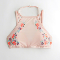 Girls Embroidered High-Neck Bralette With Removable Pads | Girls 40% Off Throughout the Site | HollisterCo.com