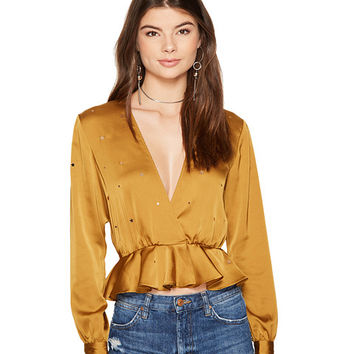 For Love and Lemons Twinkle Long Sleeve Blouse