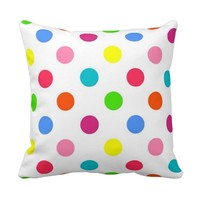 Fun big polka dots red yellow green pink orange