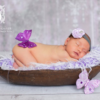 Frosted Purple Mongolian Faux Fur Photography Prop Rug Newborn Baby Toddler