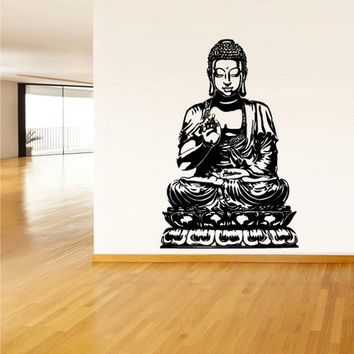 rvz1377 Wall Decal Vinyl Sticker Decals Buddha India Indian Om Ganesh God Yoga