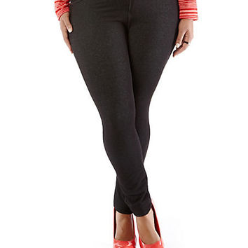 Plus-Size Like an Angel Jeggings - Rainbow