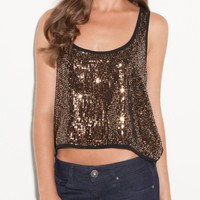 G by GUESS Quin Sequin Tank