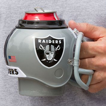 Oakland Raiders All in One Helmet Can & Bottle Cooler, Mug and Desk Caddy