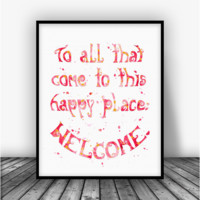 Walt Disney Quote Art Print Poster