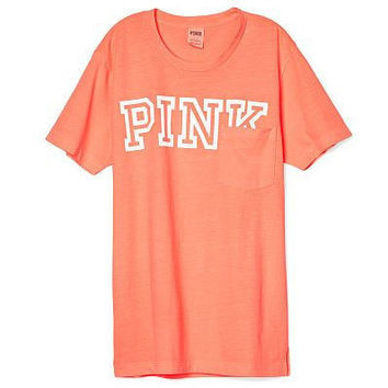 Victoria's Secret PINK Campus Short Sleeve Pocket T Shirt Medium