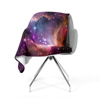 "Suzanne Carter ""Cosmic Cloud"" Celestial Purple Fleece Throw Blanket"