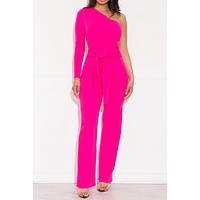 Once In A Life Time Jumpsuit Hot Pink
