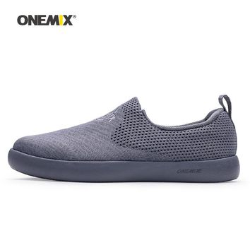 Onemix Man Skateboarding Shoes Men Knit Mesh Designer Classic Sport Skateboard Sneakers Slip On Outdoor Jogging Walking Trainers