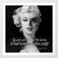 Two Face. Marilyn Quote Art Print by Kristy Patterson Design