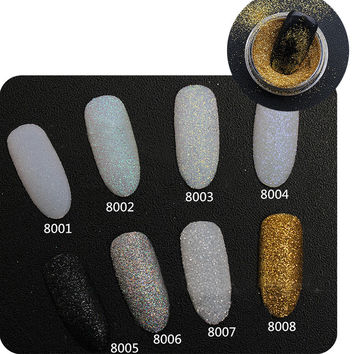 2g Box Holographic Nail Glitter Powder Shining Sugar Nail Glitter Dust Powder Nail Art Decorations Set