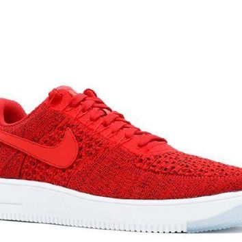 DCCKUN7 Ready Stock Nike Air Force 1 Ultra Flyknit Low University Red Unvrsty Red White  Sport Running Shoes
