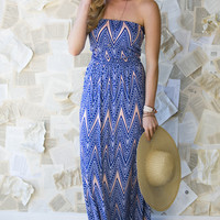 Into The Blue Maxi Dress