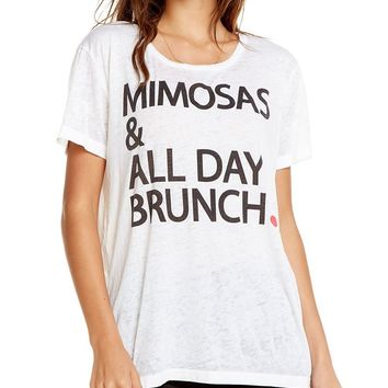 Mimosas & All Day Brunch Short Sleeve Tee