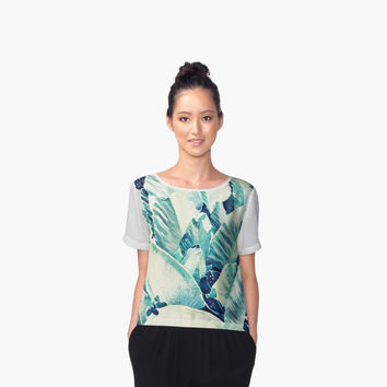 'Banana Leaf Crush #redbubble #lifestyle' Women's Chiffon Top by Uma Gokhale