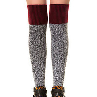 The Soft and Dreamy Sock in Grey and Wine