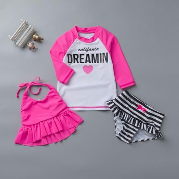 Childrens Swimsuit Cute Two Pieces Children Swimwear for Girls B b2dc2cbd8e81