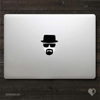 Breaking Bad inspired Heisenberg Macbook Decal / Macbook Sticker