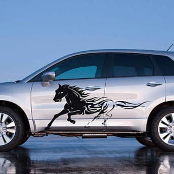 fire horse car hood decal fire horse Car Decals fire horse Car Truck fire horse Side Body Graphics Decal horse Sticker for car kikcar74