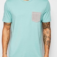 ASOS T-Shirt With Towelling Pocket And Relaxed Skater Fit