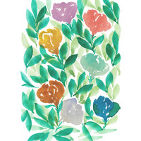 """hand painted flowers_1E"" - Painting Art Print by aticnomar."