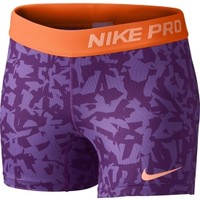 Nike Girls' Pro 3'' Printed Compression Shorts
