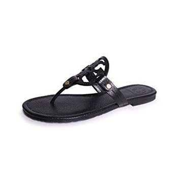 Tory Burch Miller Women's Sandals & Flip Flops Black Size 10 M